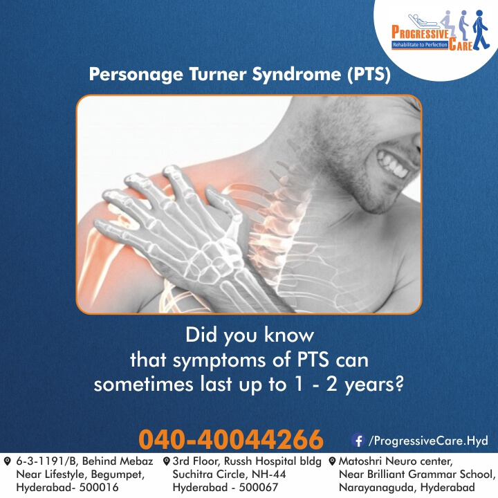Personage turner syndrome is one of the neurological disorders in which sudden excruciating pain in the shoulder is followed by weakness in the muscles